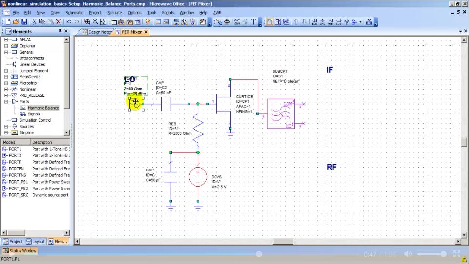 Nonlinear Simulation Basics - Help - AWR Knowledgebase